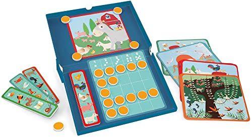 Magnetyczna gra edukacyjna dla dzieci od 4 lat, 1 gracz, liczby zwierząt