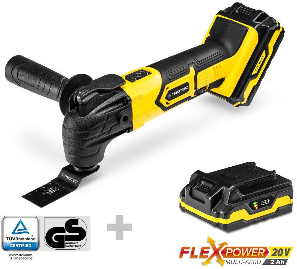 Akumulatorowe narzędzie wielofunkcyjne PMTS 10-20V plus akumulator Flexpower 20V 2,0 Ah