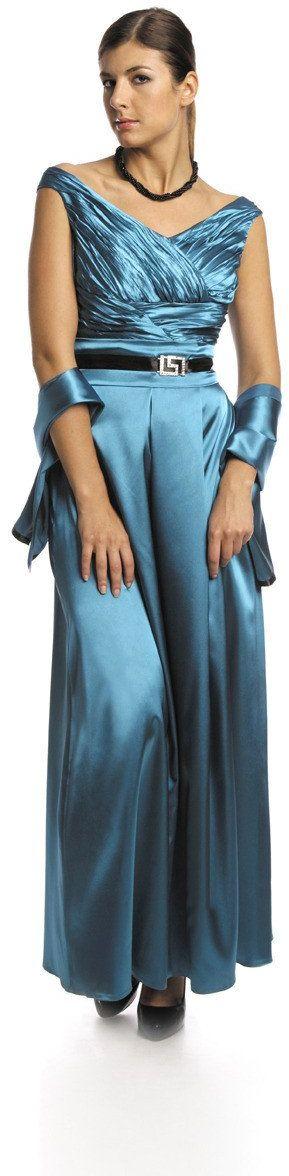 FSU733 Suknie wizytowe Sukienka ZIELONY MORSKI
