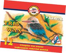 kredki Koh I Noor trio wax jumbo akwarelowe 12 kol