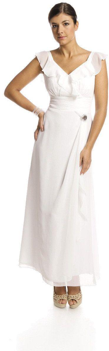 FSU734 Suknie wizytowe Sukienka BIAŁY