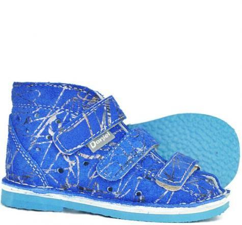 Daniel kapcie sandałki profilaktyczne dziewczęce blue