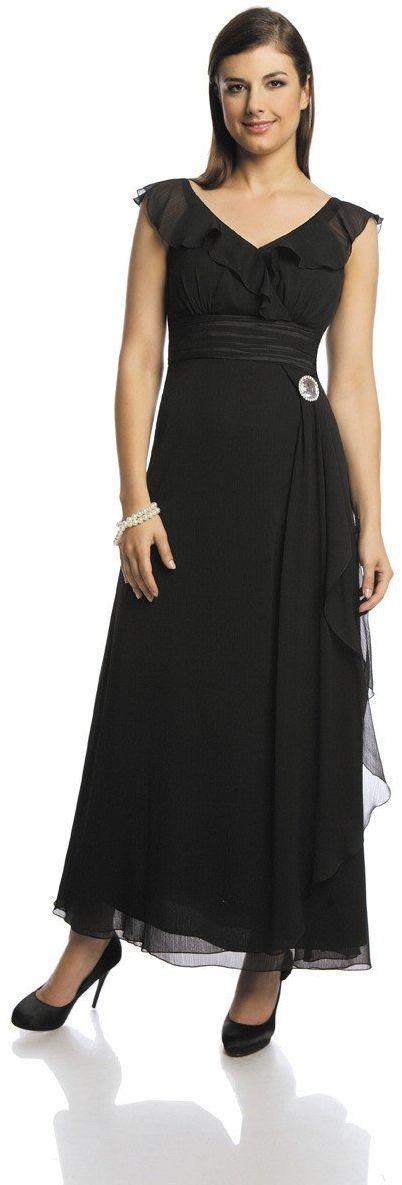 FSU734 Suknie wizytowe Sukienka CZARNY