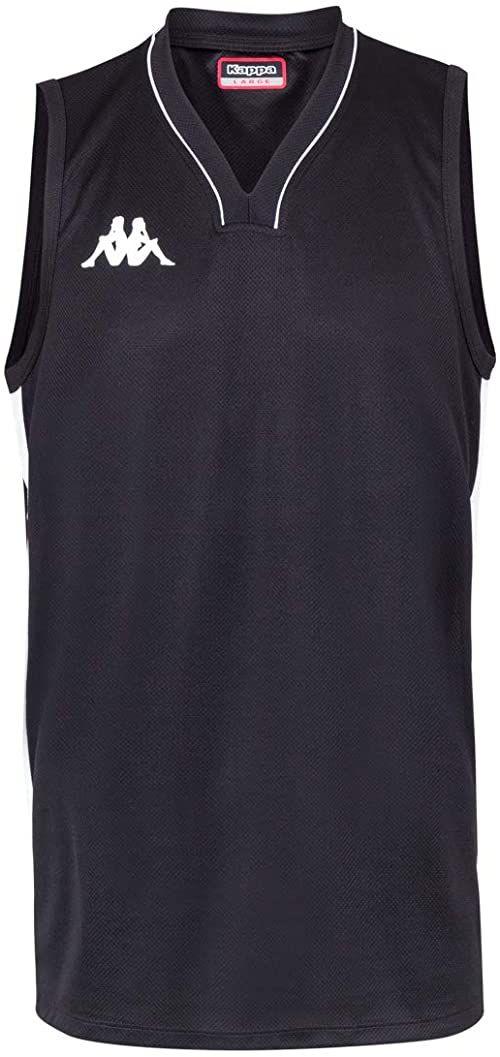 Kappa Cairo koszulka do koszykówki męska, rozmiar uniwersalny, czarna 10Y / 140cm