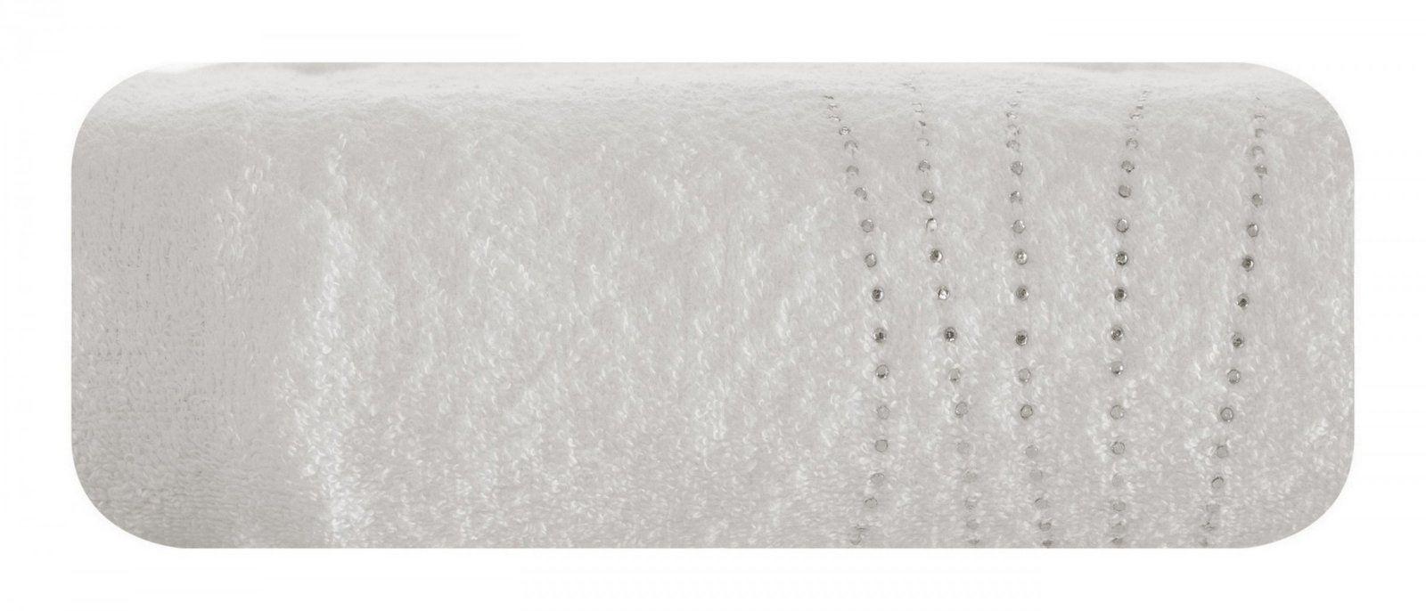 Ręcznik Kąpielowy Eurofirany Carla 02 450 g/m2 Kremowy 50x90