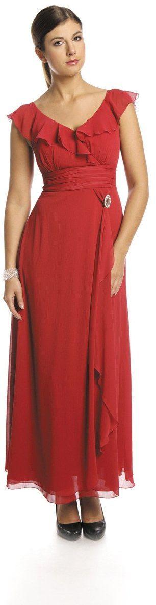 FSU734 Suknie wizytowe Sukienka CZERWONY MOCNY