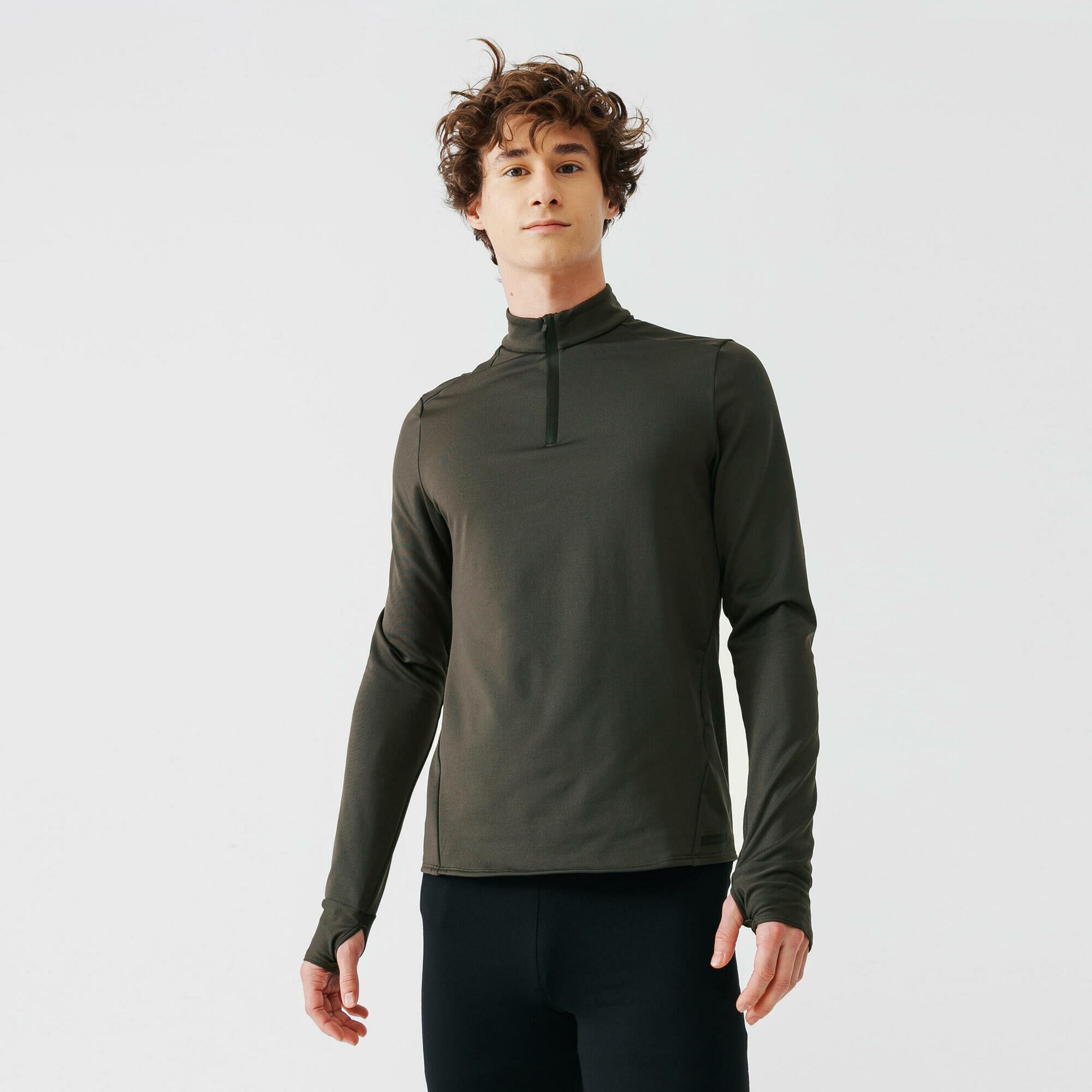 Bluza do biegania męska Kalenji Run Warm ocieplana