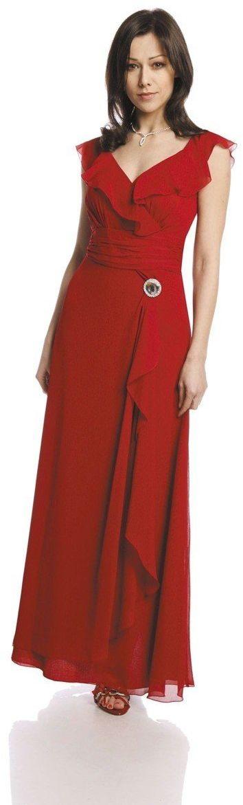 FSU734 Suknie wizytowe Sukienka CZERWONY