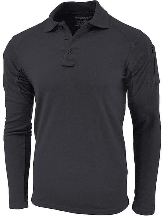 Texar Koszulka Polo z Długim Rękawem Elite Pro Czarna