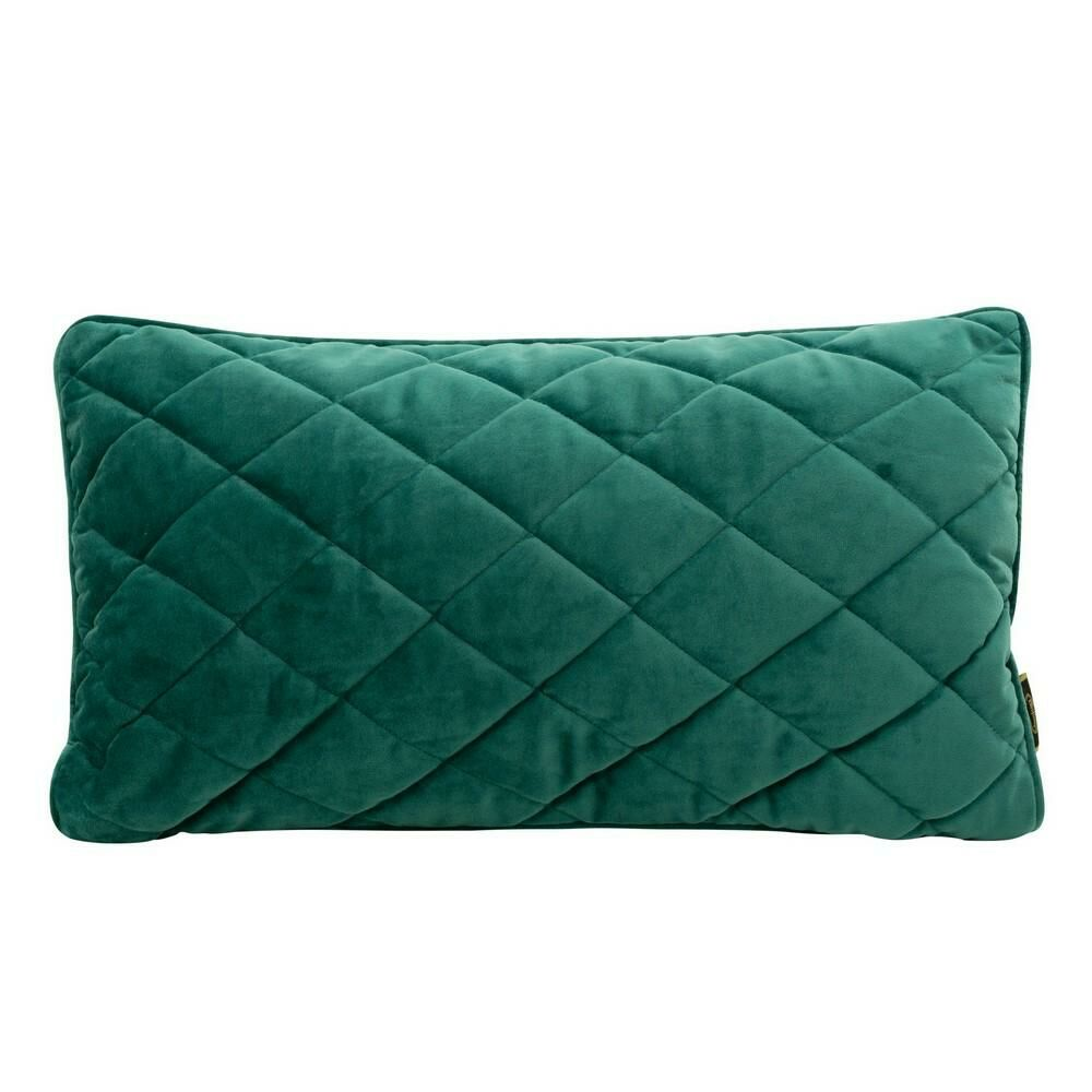 Poduszka dekoracyjna 30x50 Velvet 29 D turkusowa ciemna welwetowa geometryczna Eurofirany