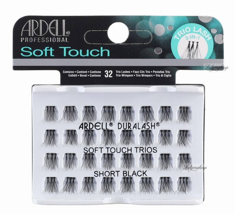 ARDELL - Soft Touch Trios - Potrójne kępki rzęs - SHORT BLACK