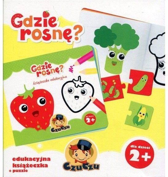 CzuCzu - Gdzie rosnę? Edukacyjna książeczka + puzzle 3029