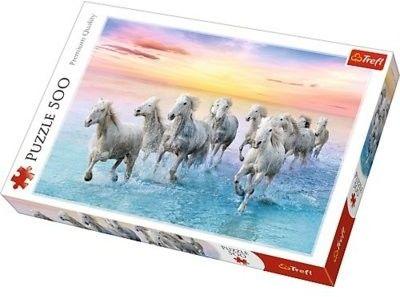 Puzzle TREFL 500 - Białe konie w galopie, Galloping white horses