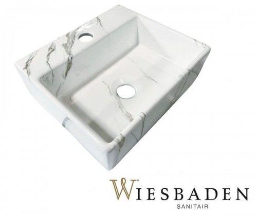 Umywalka mała 33,5x29cm LETO Carrara, biała