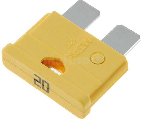 Bezpiecznik samochodowy 19mm 20A żółty