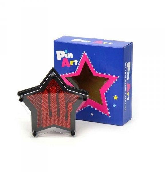 Pin art 3d gwiazdka 17cm obraz szpilkowy