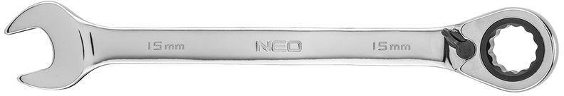 Klucz płasko-oczkowy z grzechotką i przełącznikiem 15mm 09-327