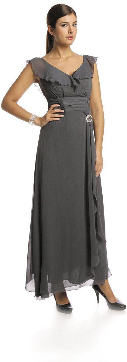 FSU734 Suknie wizytowe Sukienka SZARY