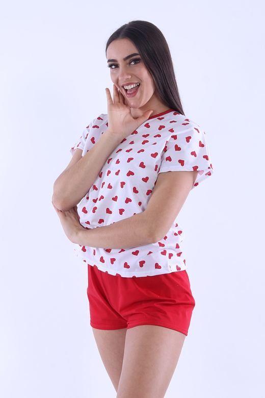 Piżama damska Lada 3 czerwone