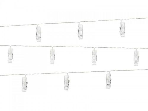 Lampki dekoracyjne klamerki led, bezbarwne