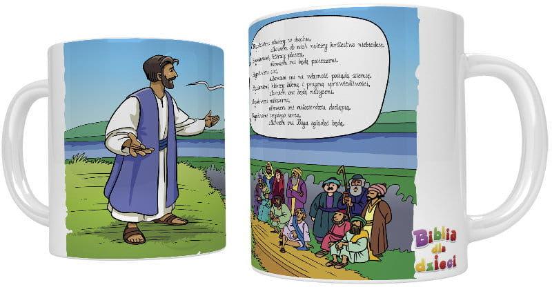 Kubek religijny nauczanie na górze