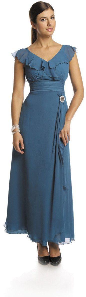 FSU734 Suknie wizytowe Sukienka TURKUS CIEMNY