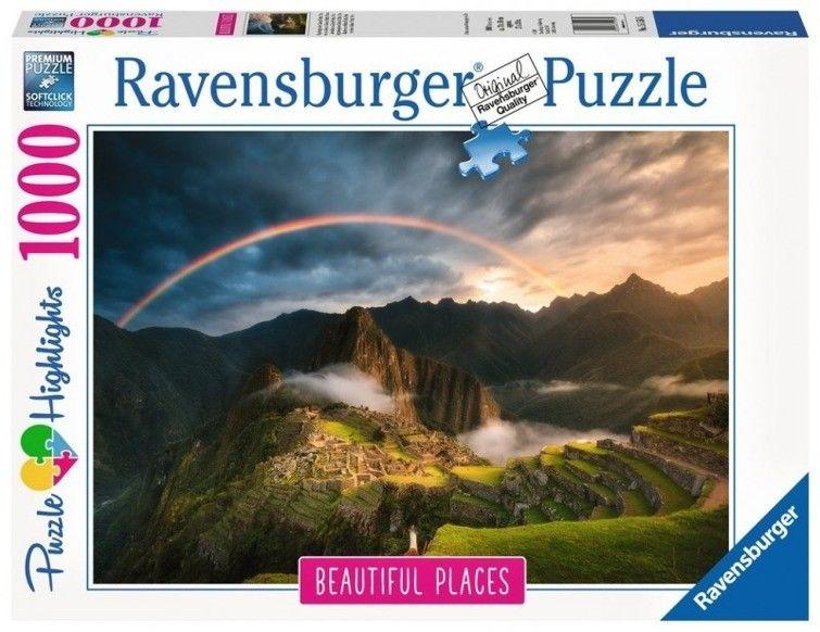 Puzzle Ravensburger 1000 - Tęcza nad Machu Piccu - Peru, Rainbow over Machu Picchu, Peru