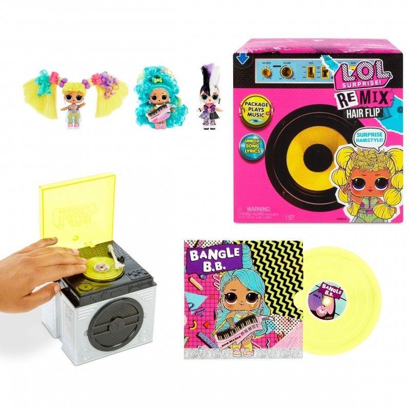 L.O.L. SURPRISE Laleczka LOL Remix Hair Flip z muzyką 566977 566960