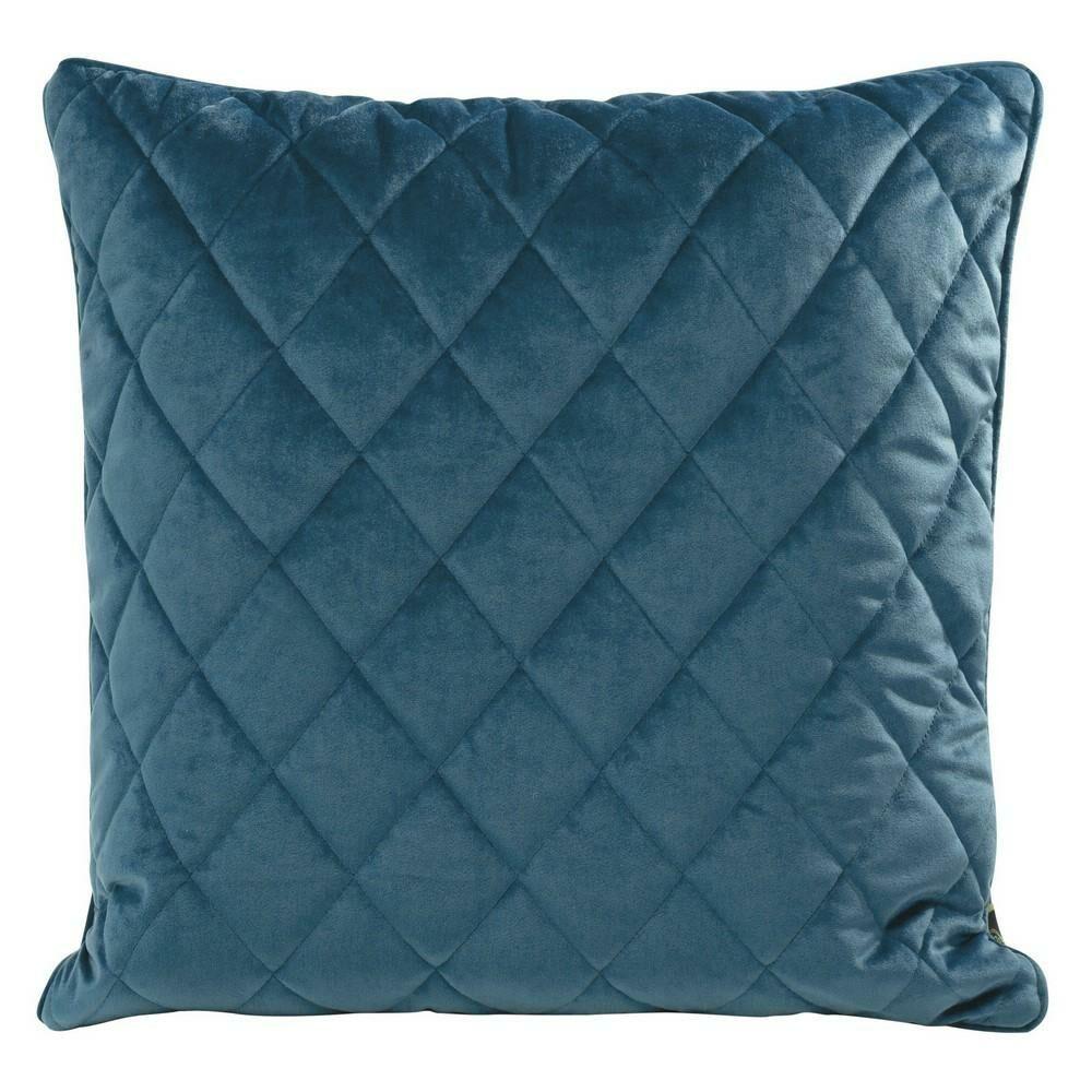 Poduszka dekoracyjna 50x50 Velvet 28 A granatowa welwetowa geometryczna Eurofirany