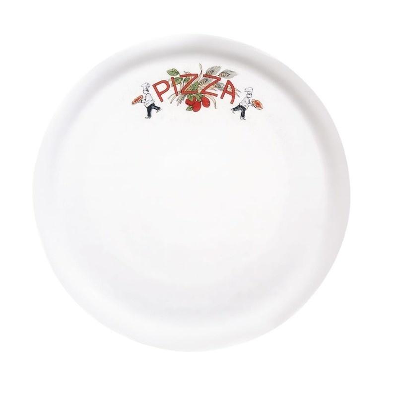 Porcelanowy talerz do pizzy 310 mm wzór kwiatu