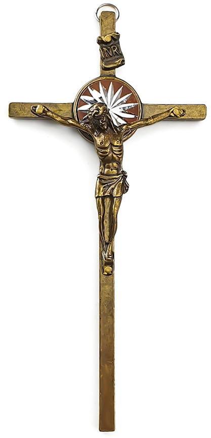 Krzyż mosiężny do powieszenia