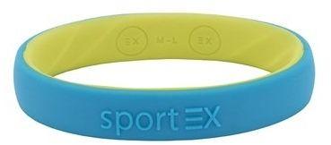 Silikonowa bransoletka magnetyczna sport ex 3191-1 dla sportowców niebieska/turkusowa