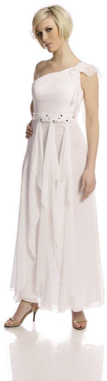 FSU738 Suknie wizytowe Sukienka BIAŁY
