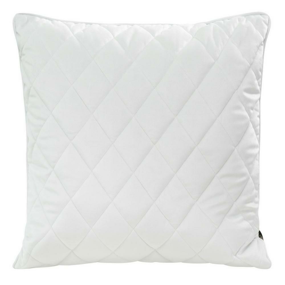 Poduszka dekoracyjna 50x50 Velvet 28 B biała welwetowa geometryczna Eurofirany