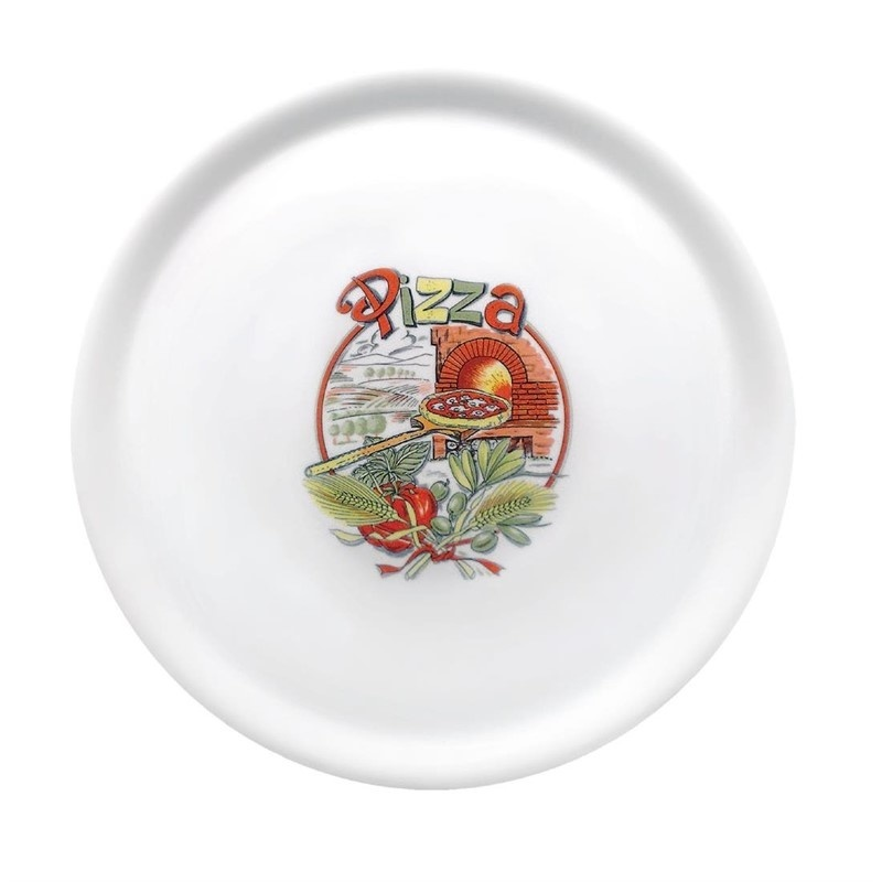 """Porcelanowy talerz do pizzy 310 mm wzór """"Pizza"""""""