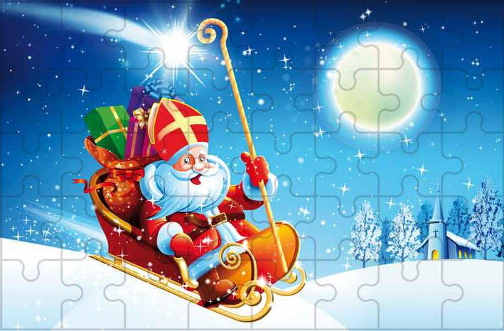 Puzzle ze Świętym Mikołajem