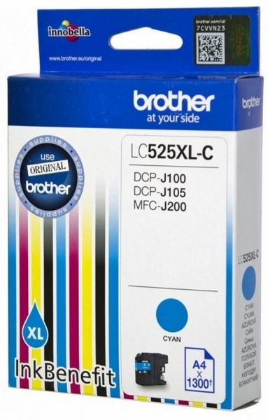 Tusz BROTHER LC-525XLC Cyjan