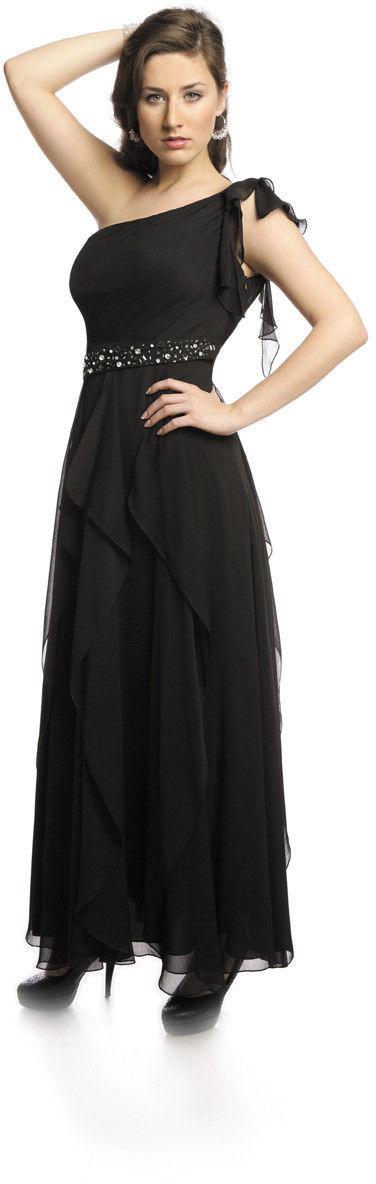 FSU738 Suknie wizytowe Sukienka CZARNY