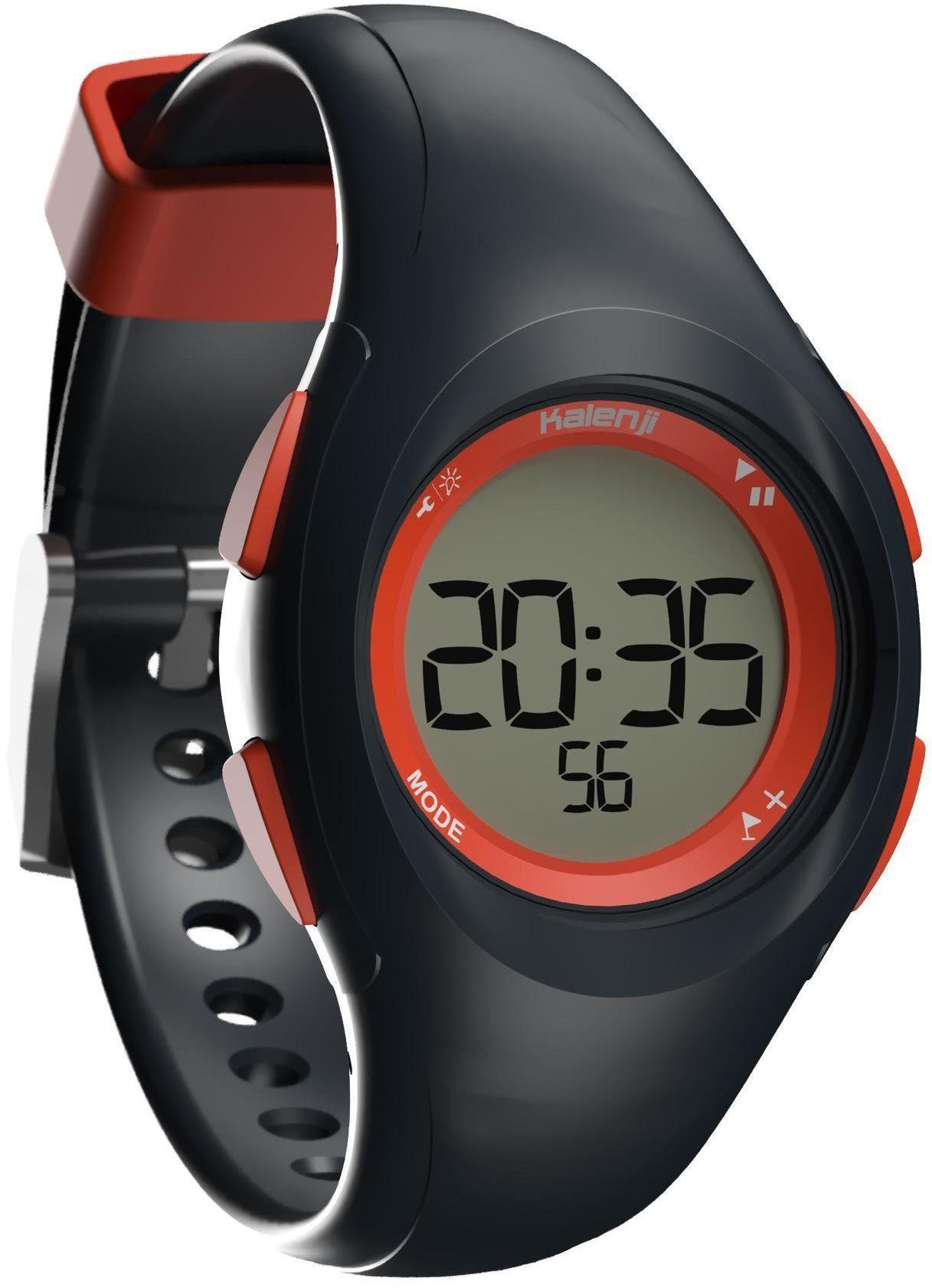 Zegarek do biegania W200 S niebiesko-pomarańczowy