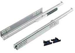System prowadnic do szuflad drewnianych V6/600 EB20 Silent system - komplet