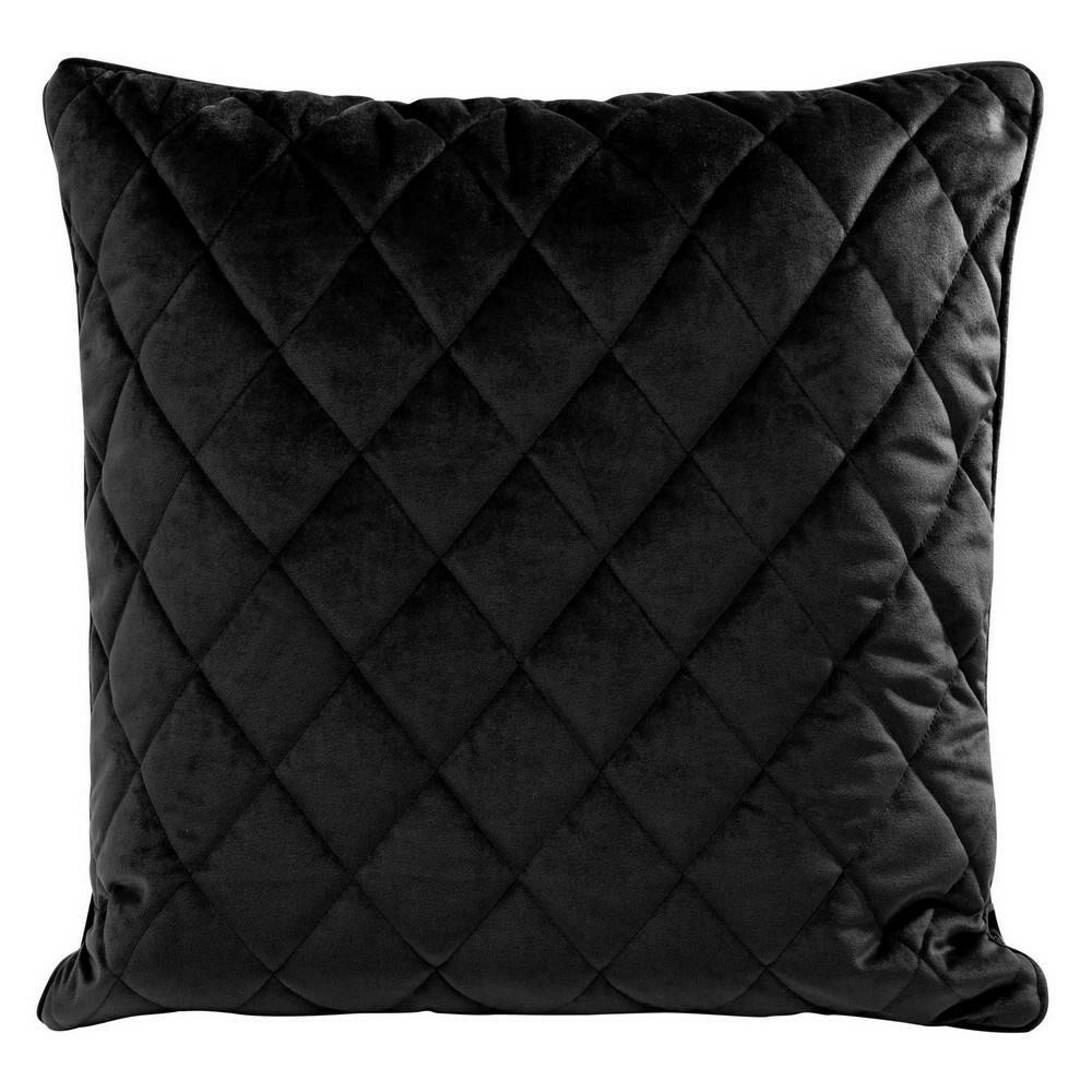 Poduszka dekoracyjna 50x50 Velvet 28 C czarna welwetowa geometryczna Eurofirany