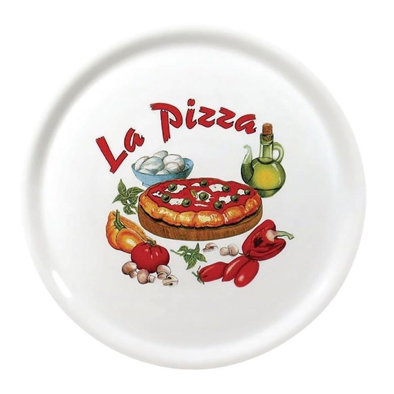 """Porcelanowy talerz do pizzy 310 mm wzór """"La Pizza"""""""
