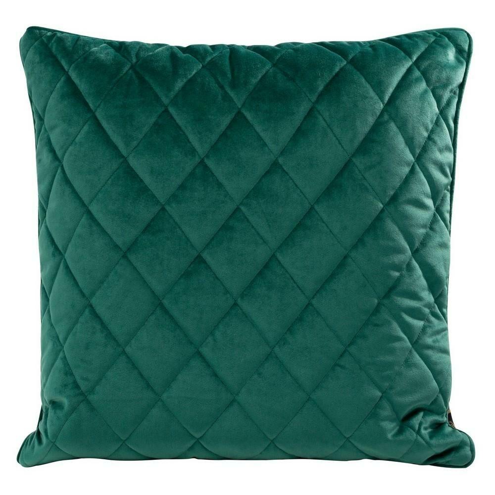 Poduszka dekoracyjna 50x50 Velvet 28 D turkusowa ciemna welwetowa geometryczna Eurofirany