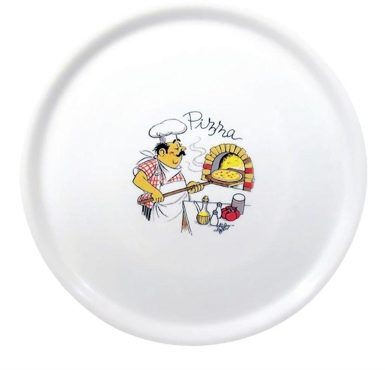 Porcelanowy talerz do pizzy 310 mm wzór kucharz