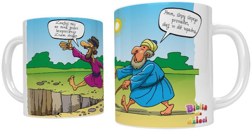 Kubek religijny Prowadzi ślepy ślepego