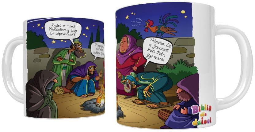 Kubek religijny Piotr zapiera się Jezusa