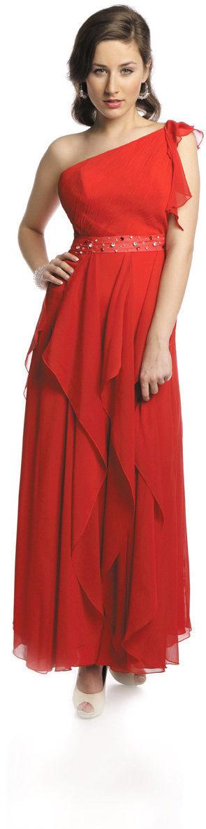 FSU738 Suknie wizytowe Sukienka CZERWONY