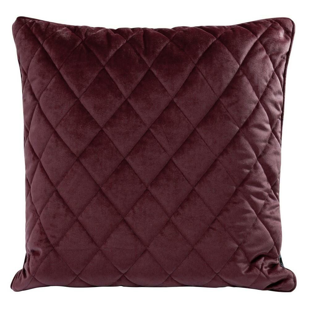 Poduszka dekoracyjna 50x50 Velvet 28 F bordowa welwetowa geometryczna Eurofirany