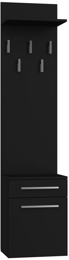 Czarny wieszak z szafką na buty - Kaya 3X