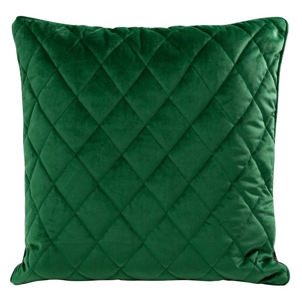 Poduszka dekoracyjna 50x50 Velvet 28 G zielona ciemna welwetowa geometryczna Eurofirany